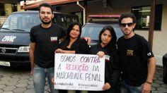 #SalaSocial: Policiais fazem campanha contra redução da maioridade penal @ricksenra #NãoàReduçãodaMaioridadePenal