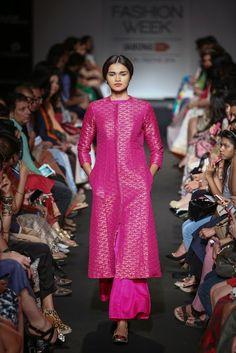Sanjay Garg Pink Jacket Kurta with Palazzo #Ethnic #PartyWear