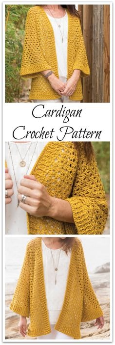 Draping lace bordered with airy rib detail creates your new go-to cardigan. Using 2 easy stitch patterns, you will be wearing this loose-fitting cardi in no time! Instant PDF download #ad #affiliate #crochet #pattern