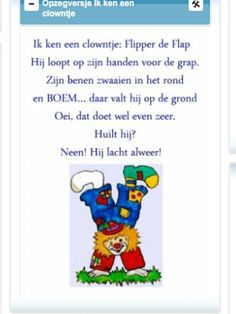 Afbeeldingsresultaat voor opzegversje over clown