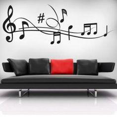 I Wants thissss Music Bedroom, Music Wall Art, Wall Decor, Room Decor, Start Ups, Wall Art Designs, Vinyl Wall Decals, My Room, Wall Murals