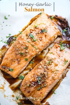 Easy honey garlic salmon recipe for healthy seafood dinner recipe. A recipe for best honey garlic salmon uses fresh ingredients low carb baked salmon recipe