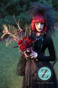 Happy Halloween! Dark and hauntingly beautiful bride's bouquet by Magdalena Williams of European Floral Design www.europeanfloraldesign.com (706)227-9937