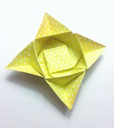 Star bowl not sure what to call it?  #origami #star #origamibowl #paper #paperfolding #paperkawaii