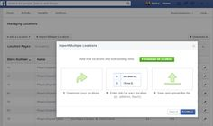 Facebook testing easier management of multiple location pages