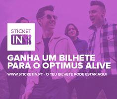 www.sticketin.pt - Ganha um bilhete para o dia 10 -  OPTIMUS ALIVE