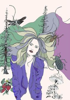 Forest Girl by Victoria Illustrates copywright 2013 #fashionillustration #illustration #fantasy #nature