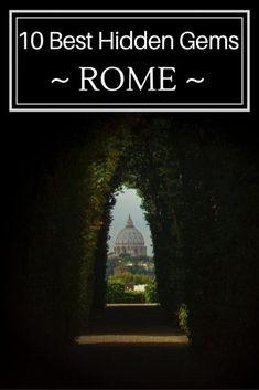 Escape the crowds and discover a secret side of Rome. 10 hidden gems - cool and unusual things to do off the beaten track in Rome.