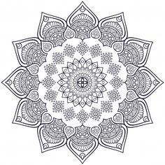 Ornamental mandala wedding invitation vector free download more information stopboris Gallery