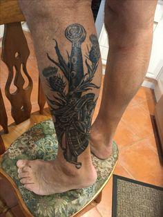 Forarm Tattoos, Leg Tattoos, Sleeve Tattoos, Cool Tattoos, Tattoo Forearm, Tatoos, Celtic Cross Tattoos, Celtic Knot Tattoo, Sword Tattoo