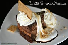 Copycat Cheesecake Factory Toasted S'mores Chocolate Cheesecake - Hugs and Cookies XOXO