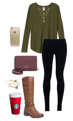 """""""When you're 15 and your first kiss makes your head spin round"""" by toonceyb ❤ liked on Polyvore featuring NIKE, Alex and Ani, Dorothy Perkins, Rifle Paper Co and Kate Spade"""