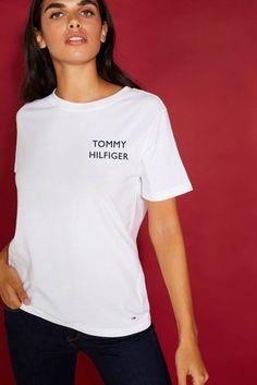 c6eff8ab9428b Girls Tommy Hilfiger Girls Sport Cropped T-Shirt - White in 2019 ...