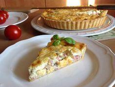 VÍKENDOVÉ PEČENÍ: Slaný koláč Quiche Savory Tart, Savoury Baking, Quiche, Baking Recipes, Ham, Brunch, Food And Drink, Meals, Snacks