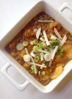 Vegetáriánus lencsés paprikás krumpli