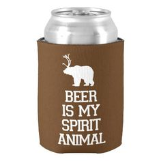 Beer is My Spirit Animal Can Cooler