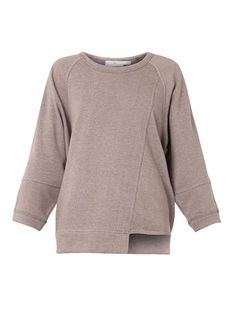 Cotton-jersey oversized sweatshirt | Adidas by Stella Mccartne...if only this came in black
