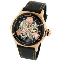 Stuhrling Original Men's 'Alpine' Skeleton Automatic Watch | Overstock.com