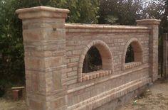 Wall Design, House Design, Brick Laying, Brick Arch, Boundary Walls, Orchids Garden, Castle House, Italian Villa, Backyard