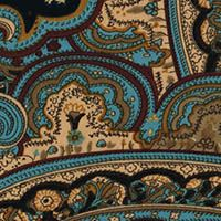 berChic Paisley Crepe de Chine  Blues/Tan/Brown  GorgeousFabrics.com
