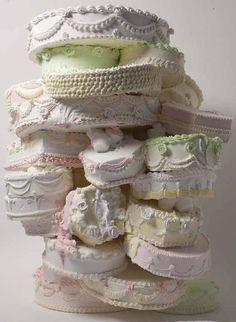 "Will Cotton ""Sweet"" 2009-2010  Materials: polystyrene, acrylic polymer, pigment, gypsum"