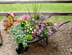 Wheel barrel planter