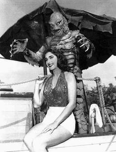 Julie Adams Creature from the Black Lagoon, 1954 Julie Adams, Retro Horror, Horror Icons, Vintage Horror, Scary Movies, Old Movies, Vintage Movies, Comedy Movies, Classic Horror Movies