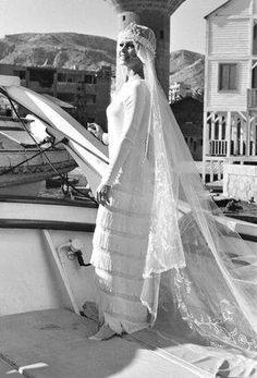 No one wears a wedding dress (or 9) like Brigitte Bardot