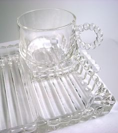 Sip Snack Smoke 4 Sets Hazel Atlas Glass Mid Century Vintage ...