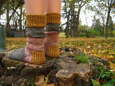 patchworked, colorblocked socks.  use naturally dyed yarns.