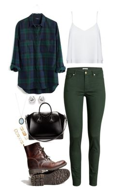 """Casual"" by chap15906248 ❤ liked on Polyvore featuring Madewell, Alice + Olivia, H&M, Givenchy, Armenta and Forever 21"