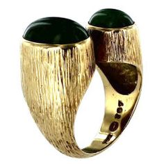 georg jensen gold and jade cocktail ring