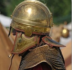 Late Roman Empire cavalry helmet detail