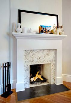 marble tiles, chevron style...i will DO this!