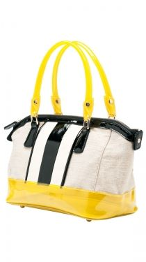 black white and yellow neon Canvas Satchel purse. Slowly working my way into neons.