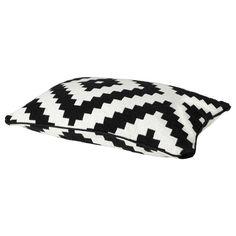 LAPPLJUNG RUTA Cushion cover, white/black $12.00