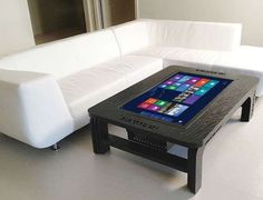 Table Top Tablets - This Coffee Table Touchscreen is a Durable Surface and Giant Computer in One http://amzn.to/2spCmml