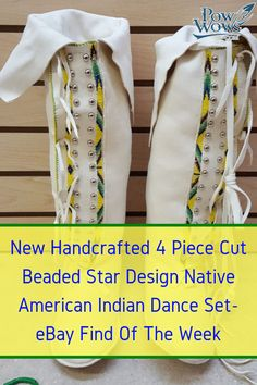 fc41332ab4 NEW HAND CRAFTED 4 PIECE CUT BEADED STAR DESIGN NATIVE AMERICAN INDIAN  DANCE SET - eBay find of the week