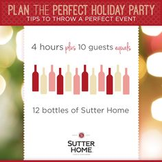 How much wine should you buy for the best holiday party? We've got the answer!