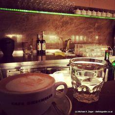 BEIM DRECHSLER | An der Bar beim Drechsler auf eine Melange zwischendurch. Bar, Coffee Maker, Restaurants, Kitchen Appliances, Tableware, Coffee Maker Machine, Cooking Ware, Coffee Percolator, Home Appliances