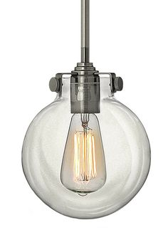 the Hinkley Lighting 3128 1 Light Indoor Mini Pendant with Clear Globe Shade from the Congress Collection at LightingDirect.com.