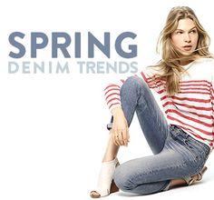 Spring denim trends for women.