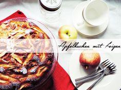 apple cake with figs | Apfelkuchen mit Feigen