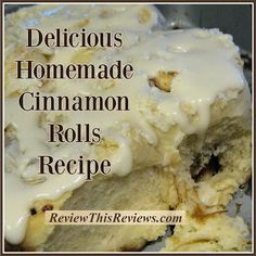 Review This Reviews!: Homemade Cinnamon Rolls Recipe and Review Cheese Alternatives, Microwave Plate, Icing Ingredients, Good Food, Yummy Food, Icing Recipe, Food Reviews, Rolls Recipe, Dry Yeast