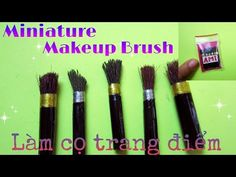 how to: mini makeup brushes