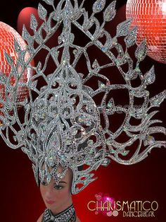 Charismatico de alto calado destello de plata con tocado Con Espejo Azulejos Y Cristales