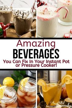 "If you are looking for amazing beverages you can fix in your instant pot or pressure cooker here's an amazing list that will become your ""go-to"" for holidays parties and more! Hot Chocolate Recipes, Chocolate Flavors, Pressure Cooker Recipes, Pressure Cooking, Sweet Tea Recipes, Potted Beef Recipe, Best Instant Pot Recipe, Fall Drinks, Vanilla Protein Powder"