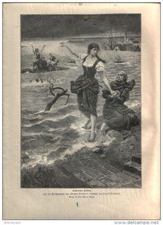 """Johanna Sebus  - Druck, entnommen   aus """"die Gartenlaube"""", 1897"""