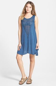 Billabong 'High Road' Crochet Cover-Up Tank Dress available at #Nordstrom