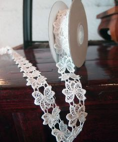This charming ivory crochet cotton lace ribbon is wide. A soft cotton lace ribbon that makes for an excellent trim. Candle Wedding Favors, Candle Favors, Wedding Favor Bags, Daffodil Bulbs, Daffodils, Embroidered Lace, Floral Embroidery, Embroidery Ideas, Wholesale Ribbon